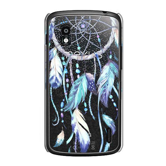 Nexus 4 Cases - Watercolor Blue Dreamcatcher Feather Dream Catcher
