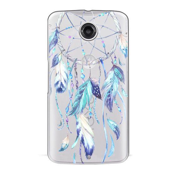 Nexus 6 Cases - Watercolor Blue Dreamcatcher Feather Dream Catcher