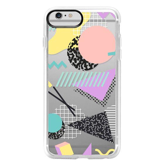 iPhone 6 Plus Cases - Pastel Geometric Memphis Pattern