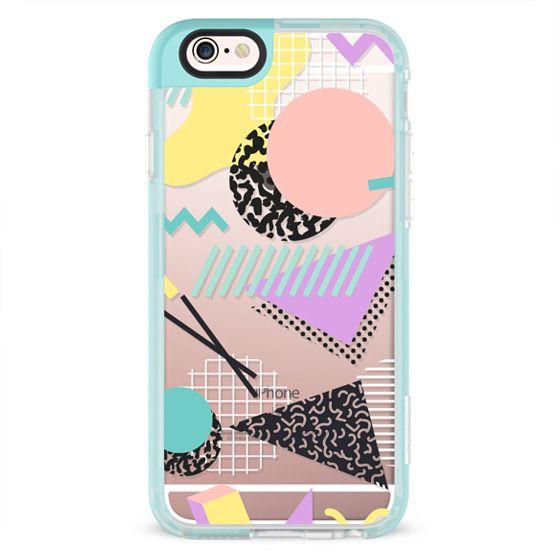 iPhone 4 Cases - Pastel Geometric Memphis Pattern
