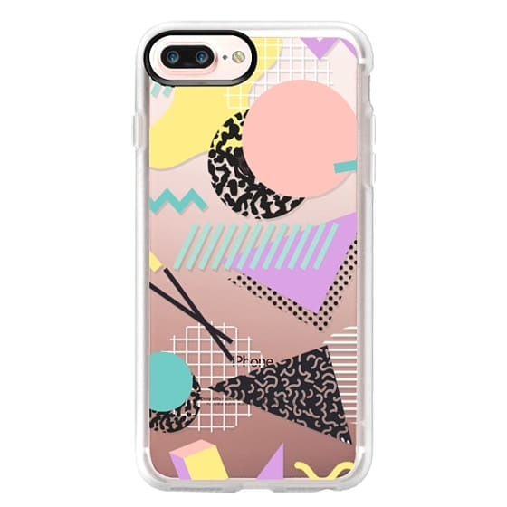 iPhone 7 Plus Cases - Pastel Geometric Memphis Pattern