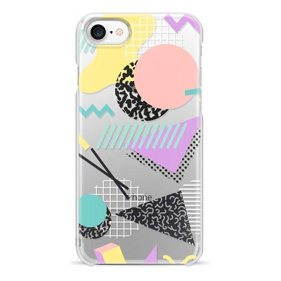 iPhone 7 Cases - Pastel Geometric Memphis Pattern
