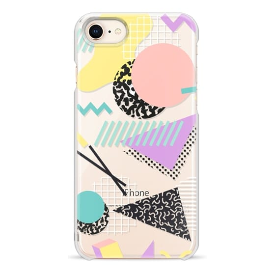 iPhone 8 Cases - Pastel Geometric Memphis Pattern