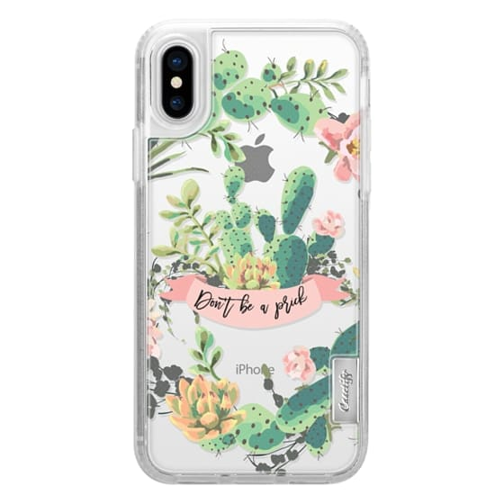 iPhone X Cases - Cactus Garden - Don't Be A Prick