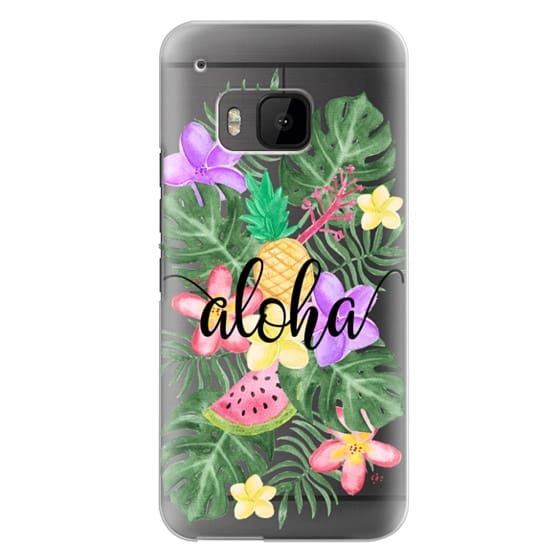 Htc One M9 Cases - Tropical Watercolor Floral Leaves Aloha