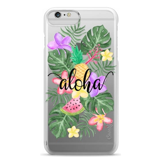 iPhone 6 Plus Cases - Tropical Watercolor Floral Leaves Aloha