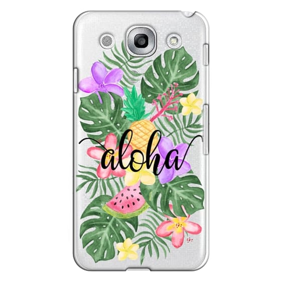 Optimus G Pro Cases - Tropical Watercolor Floral Leaves Aloha