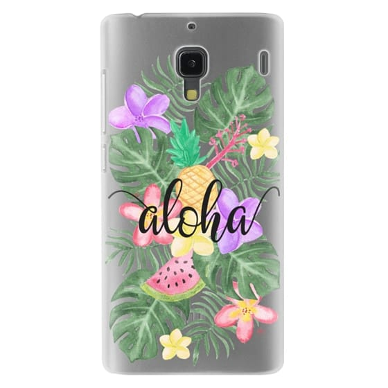 Redmi 1s Cases - Tropical Watercolor Floral Leaves Aloha