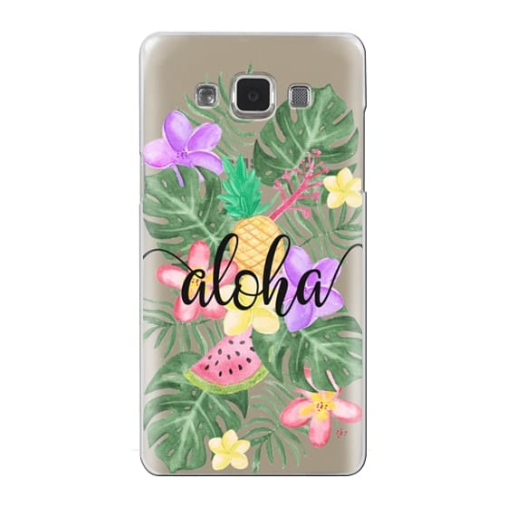 Samsung Galaxy A5 Cases - Tropical Watercolor Floral Leaves Aloha