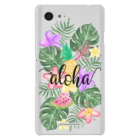 Sony E3 Cases - Tropical Watercolor Floral Leaves Aloha