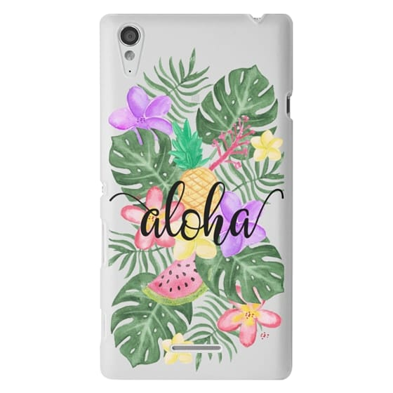 Sony T3 Cases - Tropical Watercolor Floral Leaves Aloha