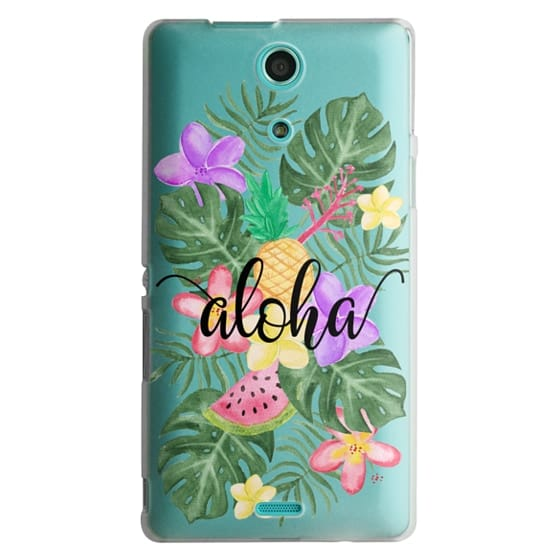 Sony Zr Cases - Tropical Watercolor Floral Leaves Aloha