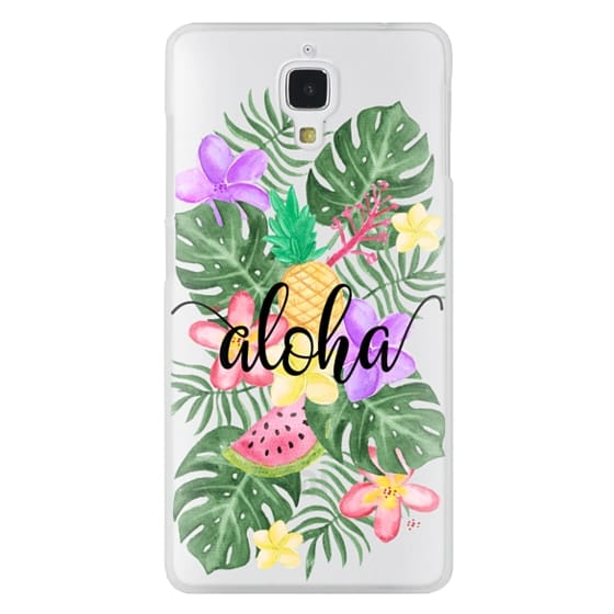 Xiaomi 4 Cases - Tropical Watercolor Floral Leaves Aloha