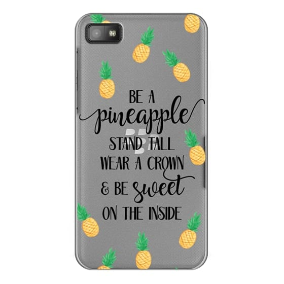 Blackberry Z10 Cases - Be a Pineapple - Watercolor Pineapples