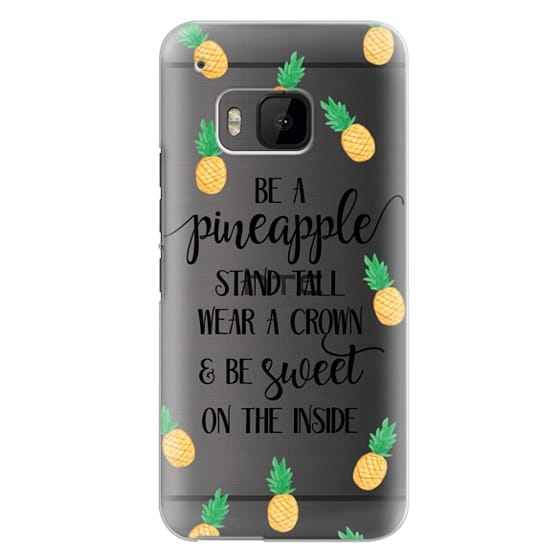 Htc One M9 Cases - Be a Pineapple - Watercolor Pineapples