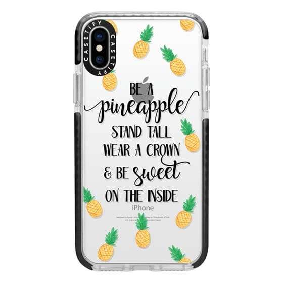 iPhone X Cases - Be a Pineapple - Watercolor Pineapples