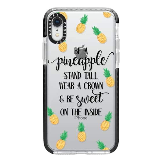 iPhone XR Cases - Be a Pineapple - Watercolor Pineapples