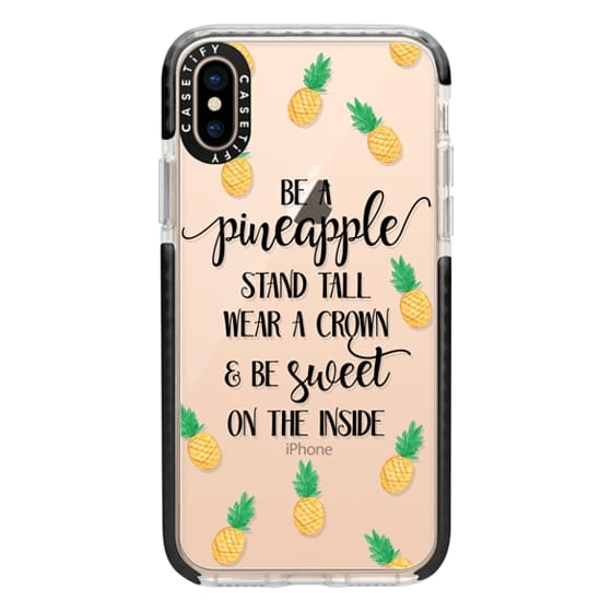 iPhone XS Cases - Be a Pineapple - Watercolor Pineapples