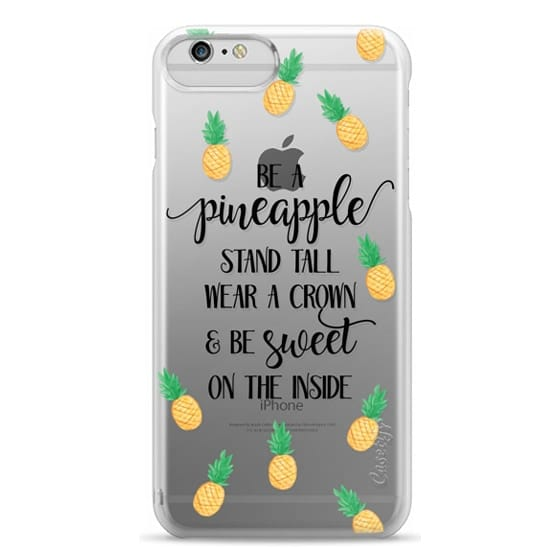 iPhone 6 Plus Cases - Be a Pineapple - Watercolor Pineapples