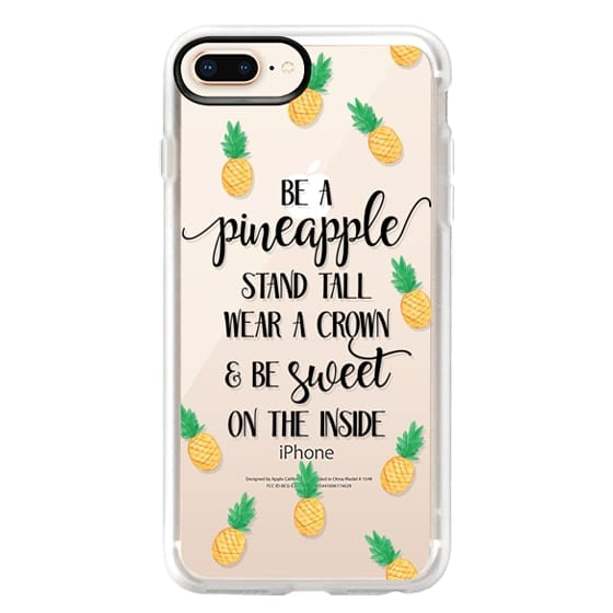 iPhone 8 Plus Cases - Be a Pineapple - Watercolor Pineapples