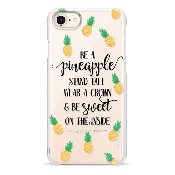 iPhone 8 Cases - Be a Pineapple - Watercolor Pineapples