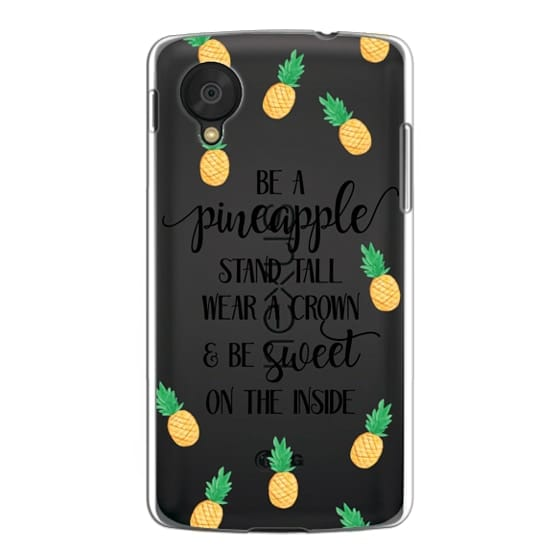 Nexus 5 Cases - Be a Pineapple - Watercolor Pineapples