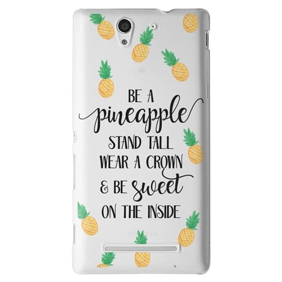 Sony C3 Cases - Be a Pineapple - Watercolor Pineapples