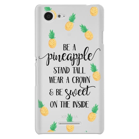 Sony E3 Cases - Be a Pineapple - Watercolor Pineapples