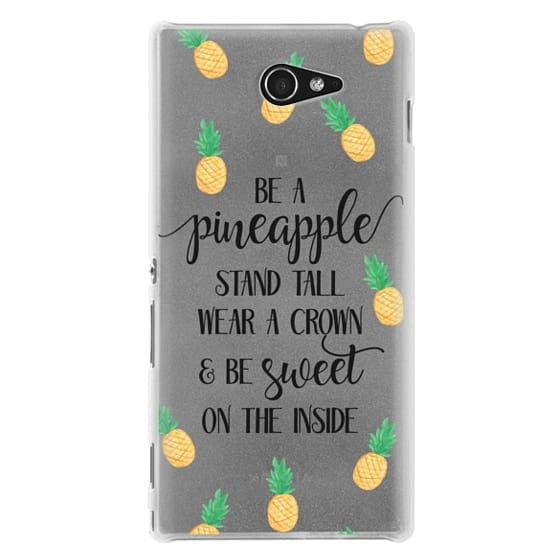 Sony M2 Cases - Be a Pineapple - Watercolor Pineapples