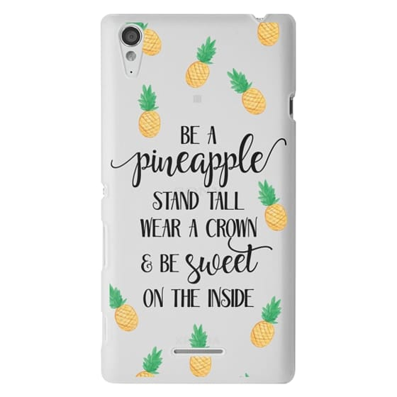 Sony T3 Cases - Be a Pineapple - Watercolor Pineapples