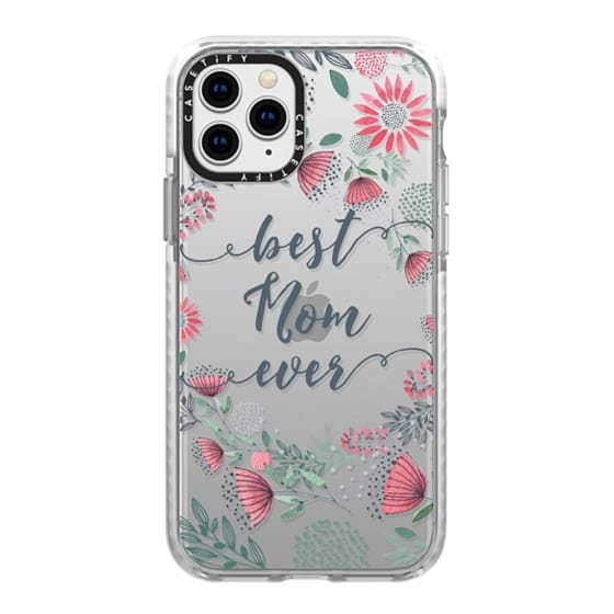 iPhone 11 Pro Cases - Best Mom Ever Watercolor Floral Pink and Green