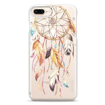Snap iPhone 8 Plus Case - Watercolor Dreamcatcher Feather Dream Catcher