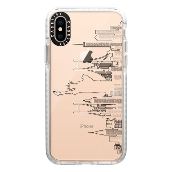 iPhone XS Cases - New York Skyline