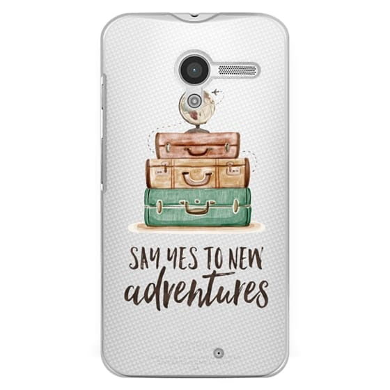 Moto X Cases - Watercolour Travel World Globe - Say Yes to New Adventures