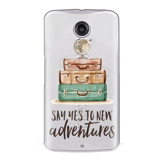 Nexus 6 Cases - Watercolour Travel World Globe - Say Yes to New Adventures