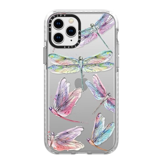 iPhone 11 Pro Cases - Watercolor Dragonflies