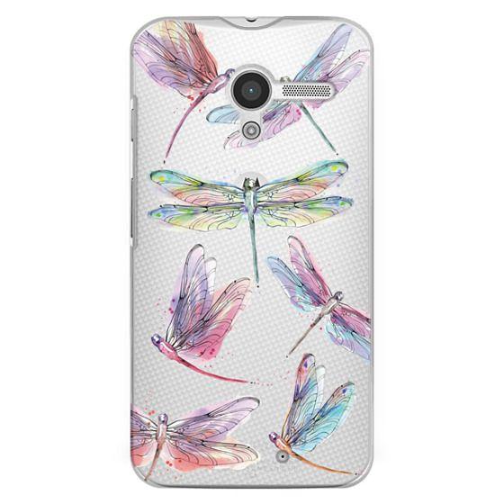 Moto X Cases - Watercolor Dragonflies