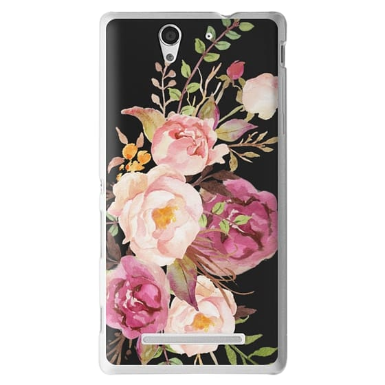 Sony C3 Cases - Watercolour Floral Bouquet