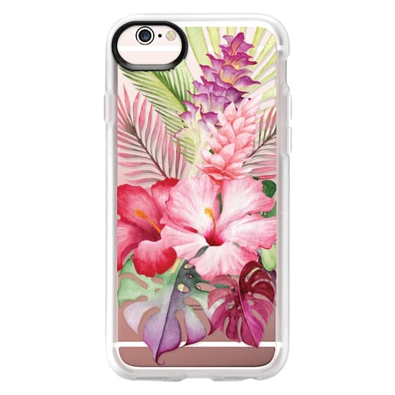 iPhone 6s Cases - Watercolor Tropical Pink Floral