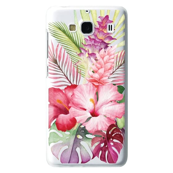 Redmi 2 Cases - Watercolor Tropical Pink Floral