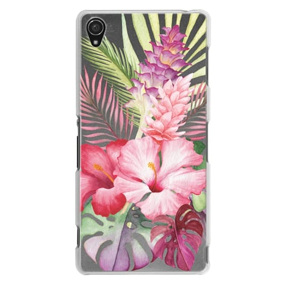 Sony Z3 Cases - Watercolor Tropical Pink Floral