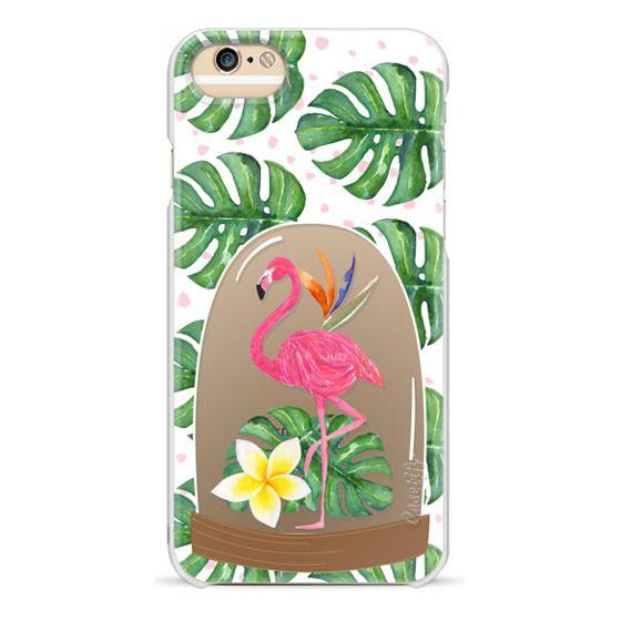 iPhone 6 Cases - Watercolor Flamingo Tropical Snowglobe