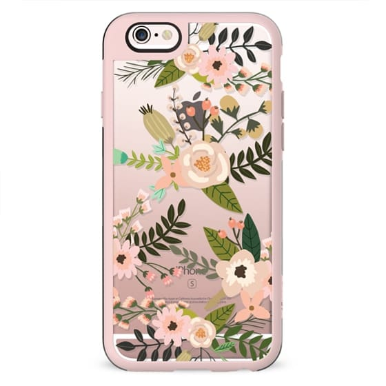 Peachy Pink Florals - Trasparent