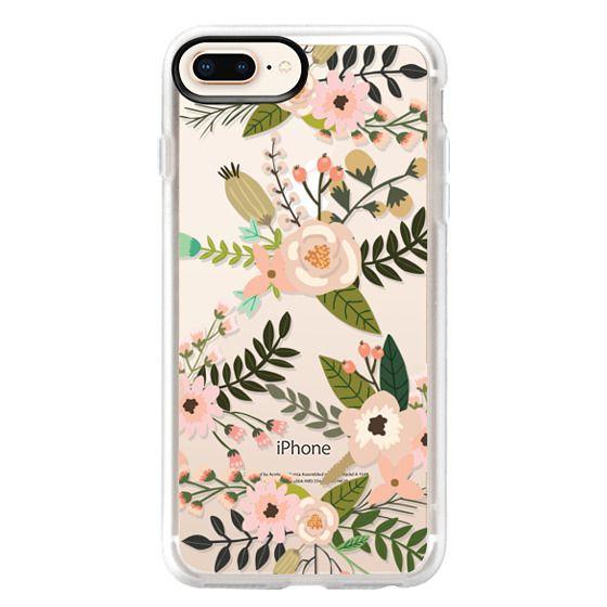 Peachy Pink Florals - Trasparent
