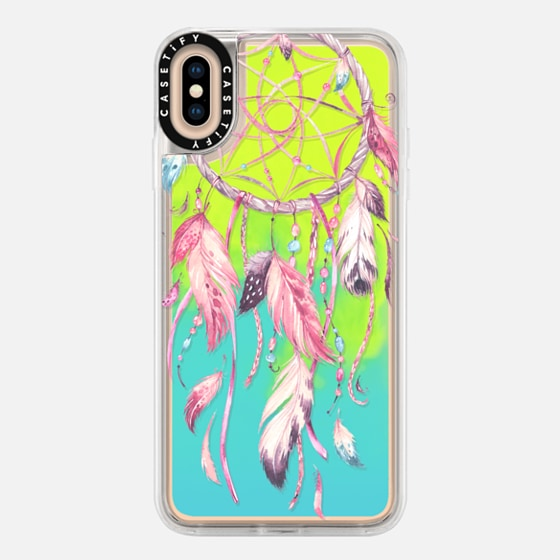 iPhone 7 Plus/7/6 Plus/6/5/5s/5c Case - Watercolor Pink Dreamcatcher Feather Dream Catcher