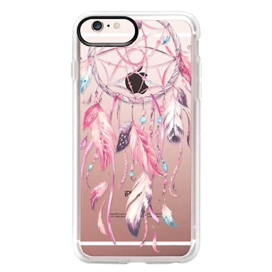 iPhone 6s Plus Cases - Watercolor Pink Dreamcatcher Feather Dream Catcher