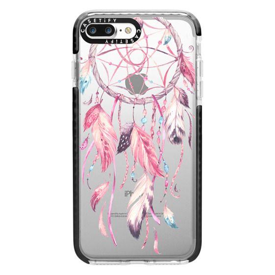 iPhone 7 Plus Cases - Watercolor Pink Dreamcatcher Feather Dream Catcher