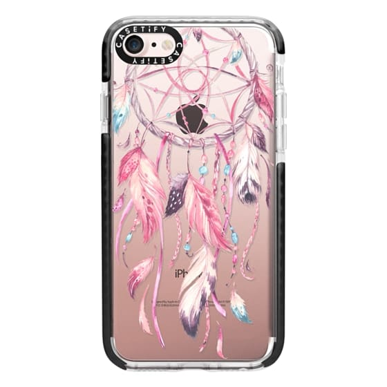 iPhone 7 Cases - Watercolor Pink Dreamcatcher Feather Dream Catcher