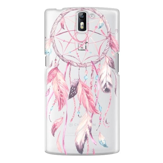 One Plus One Cases - Watercolor Pink Dreamcatcher Feather Dream Catcher