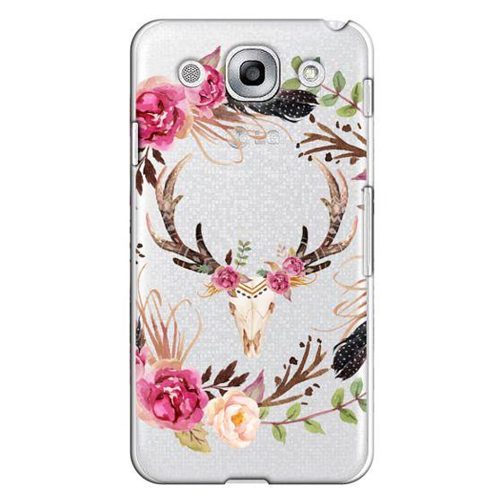 Optimus G Pro Cases - Watercolour Floral Deer Skull - Transparent